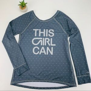 GAP Fit Dry 'This Girl Can' Polka Dot Raglan Top